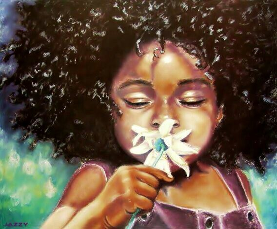 Image result for Afro Paintings Little things