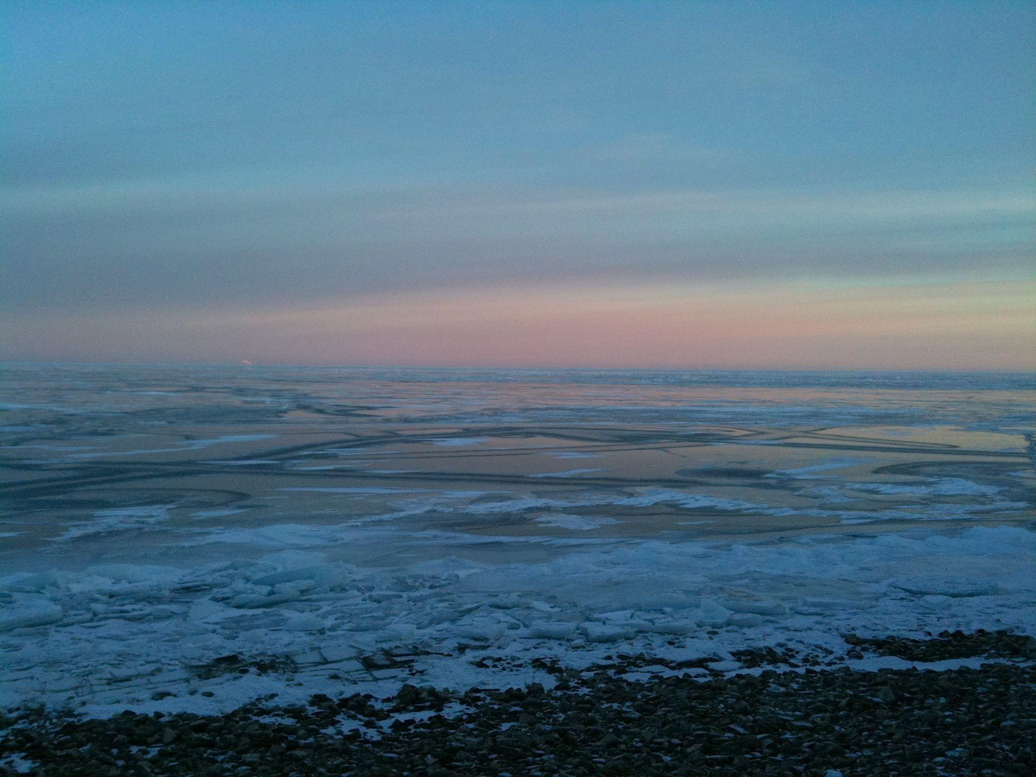 Winter dawn.