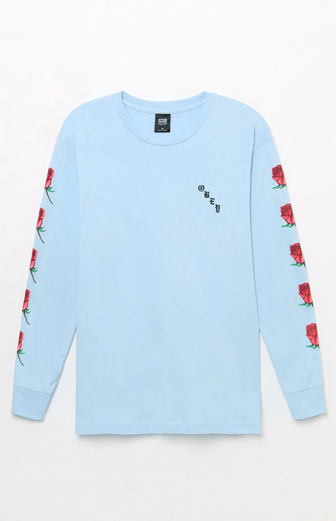 ace8559c5f1 Obey Airbrushed Rose Long Sleeve T-Shirt - XLG