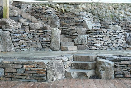 Vancouver Masonry By The Emerald Coast Basalt Dry Stack Retaining Walls Stone Retaining Wall Stacked Stone Walls Stone Wall