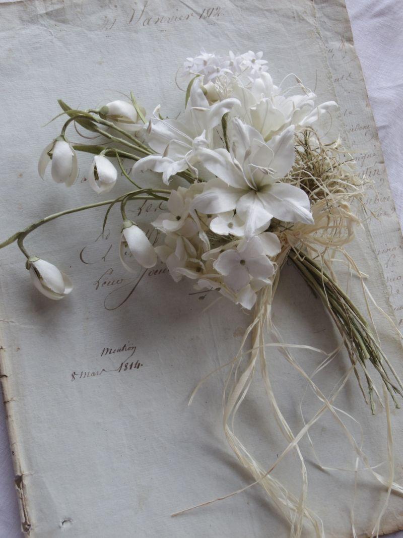 オールドローズとピンクアナベル 花の工作 フラワークラフト ユリ 花