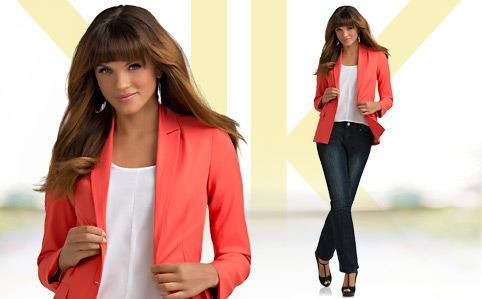 THE BOYFRIEND JACKET    It may borrow from the boys, but this blazer has a cut that flatters and color you'd never see on his side of the closet. In other words? It was made just for you.