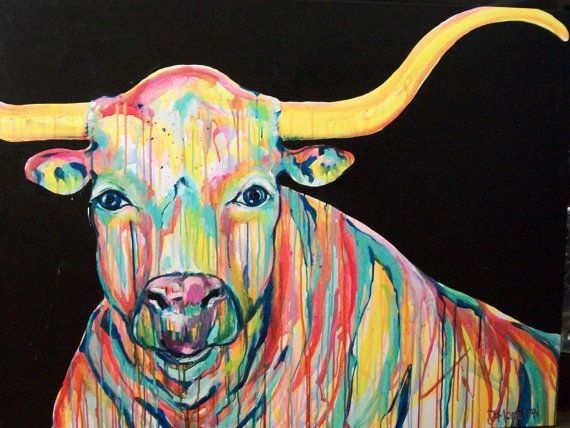 Hatfield the Longhorn Original 36x48 Painting by by jmoreman82, $1200.00