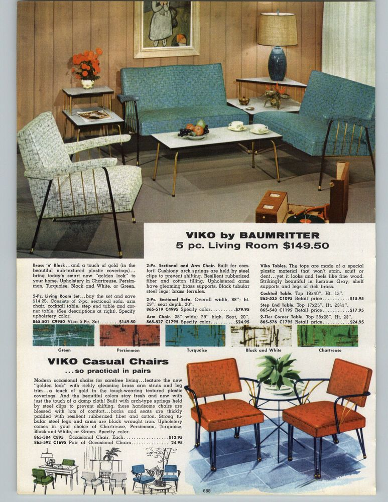 Enjoyable 1957 Paper Ad Living Room Furniture Viko Baumritter Mid Inzonedesignstudio Interior Chair Design Inzonedesignstudiocom