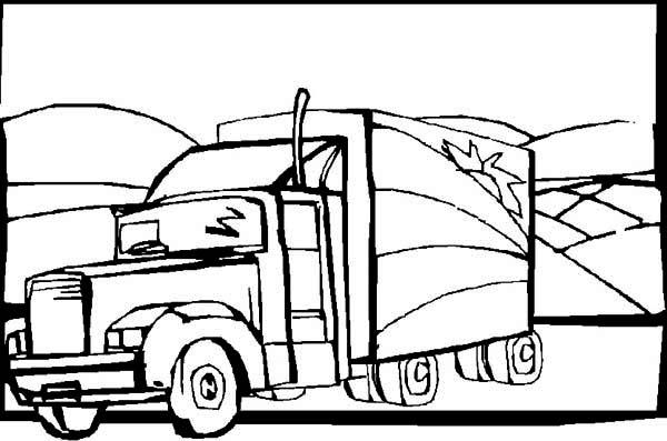 Semitrailer Semi Truck Coloring Page Netart