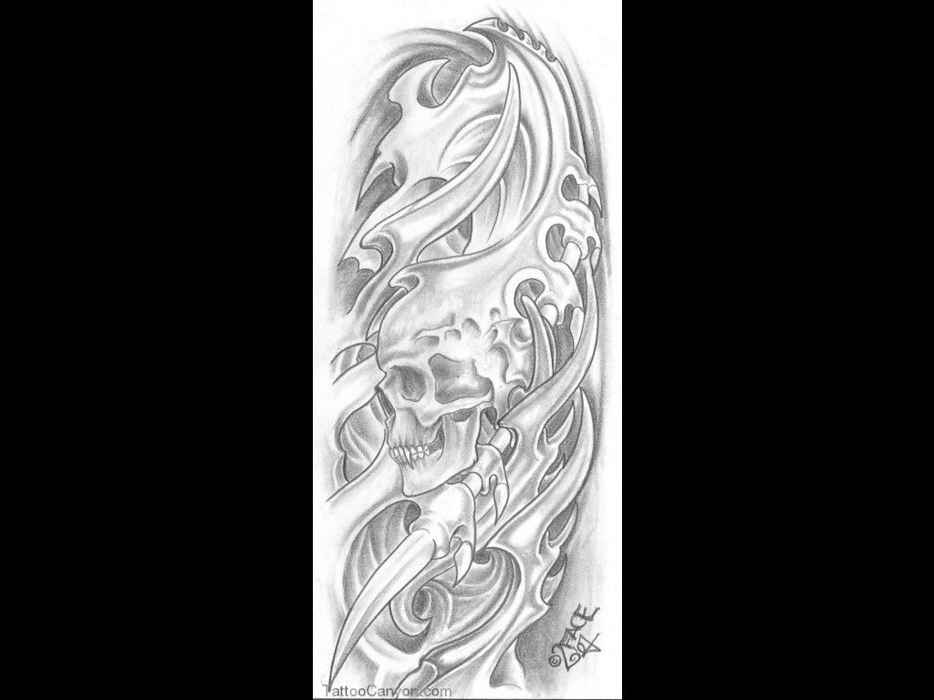 Hr giger tattoo designs - Biomechanical Tattoo Designs Sleeve Pin Biomechanical Skull Death