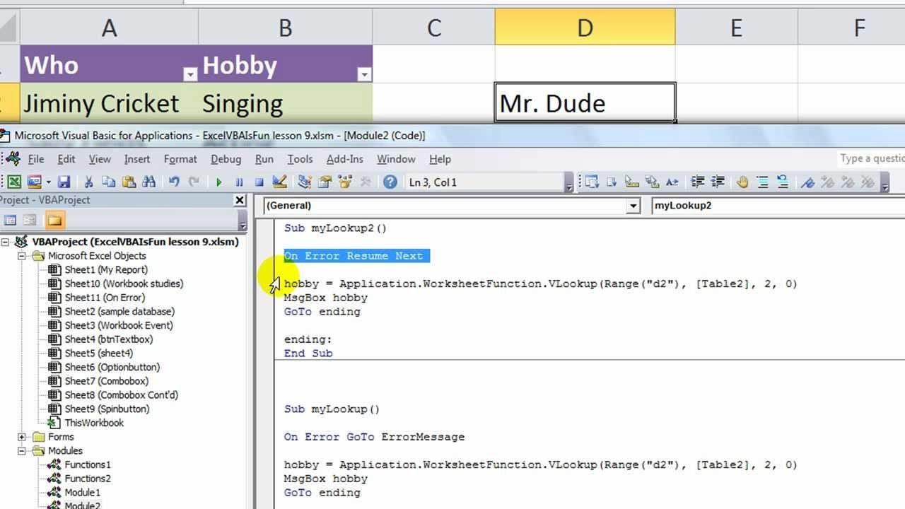 29+ Vba on error resume next not working Examples