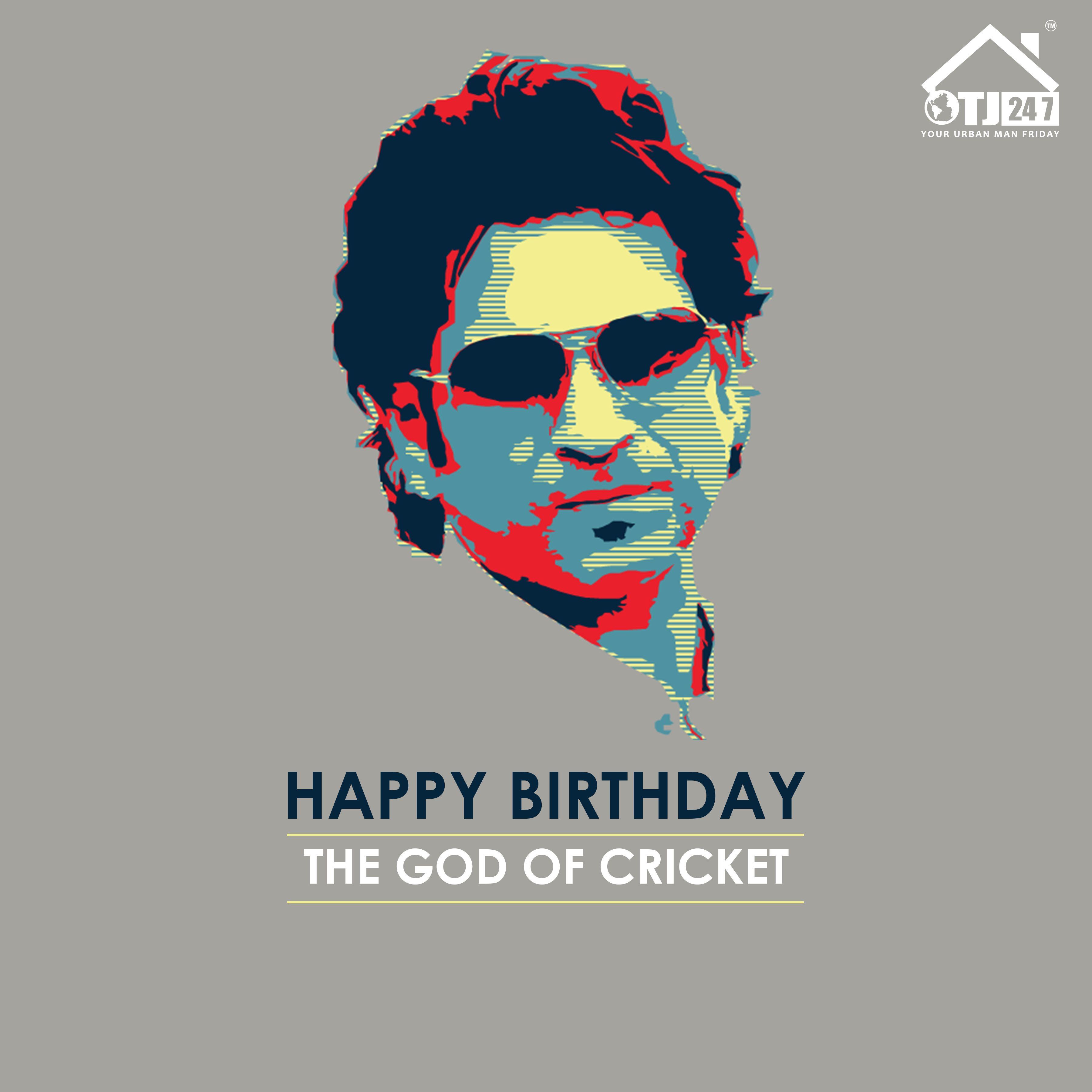 Happy Birthday The God of Cricket. cricket