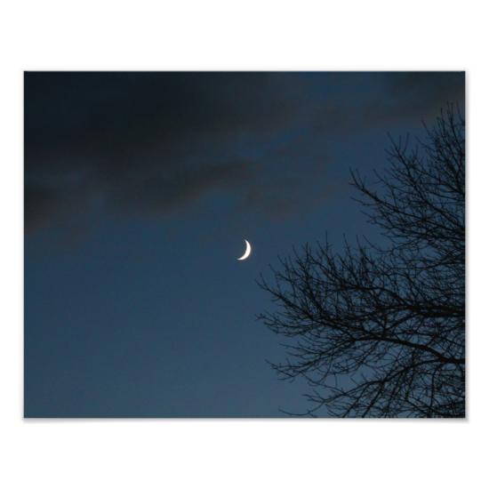 Waxing Crescent Moon In Sagittarius Art Photo Nature Posters Photo Art Photo