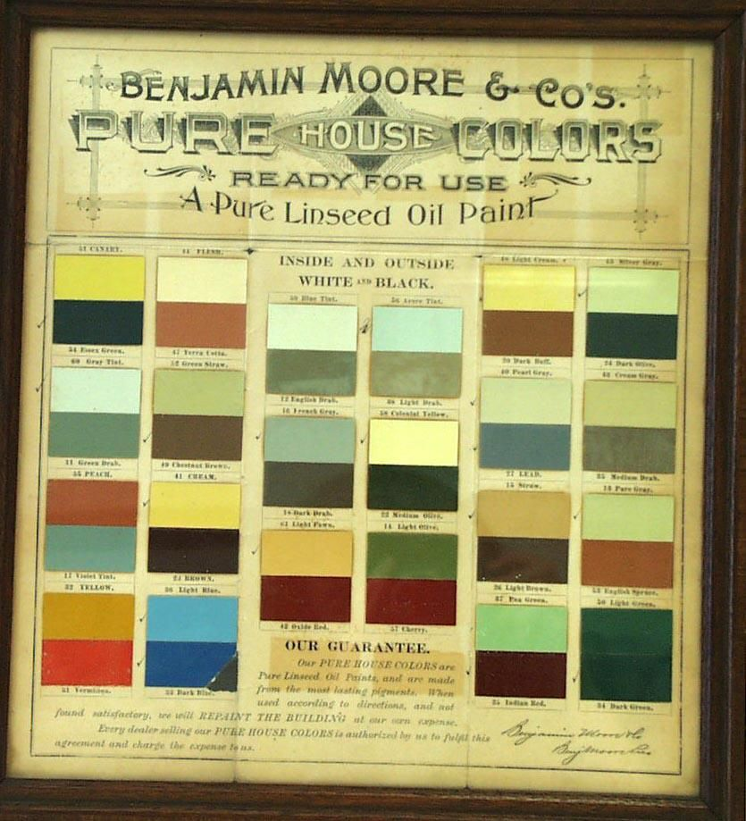 Benjamin Moore Color Combos From The Late 1800s Sf