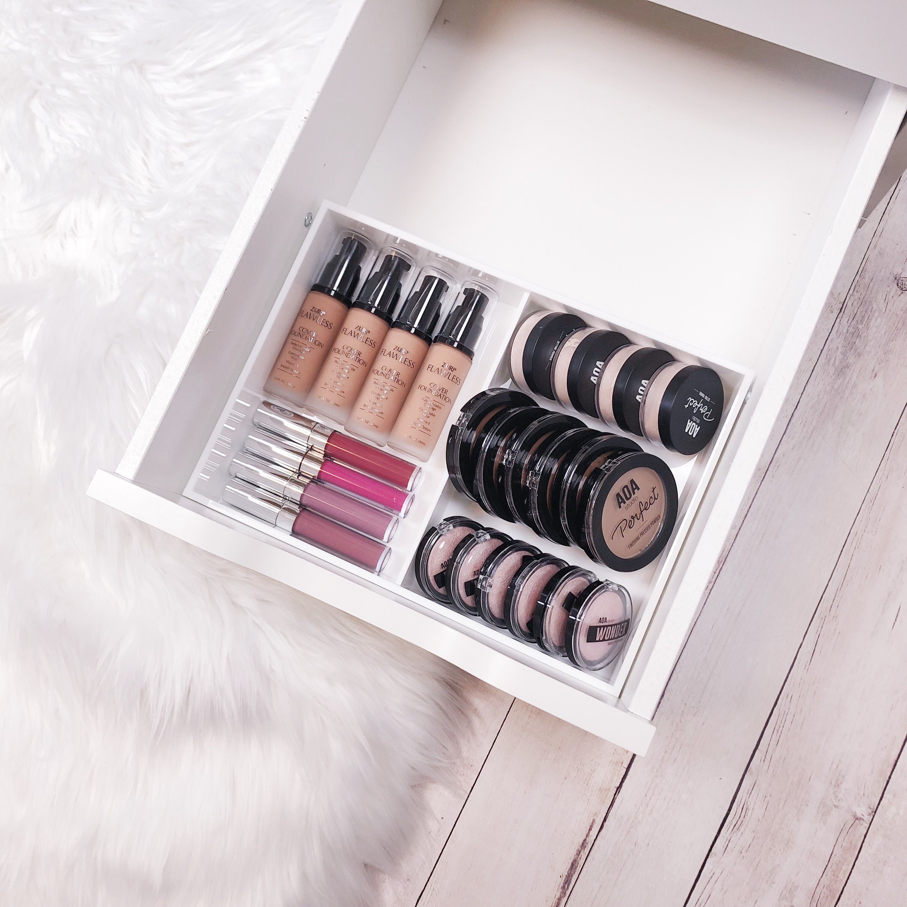 Fits All Ikea Alex Drawer Units Handmade With Premium White Acrylic Makeup Organizers
