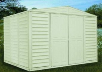 Duramax Woodbridge Vinyl Shed 00211 10 5x8 126 6 Inx94 2 In Vinyl Sheds Vinyl Storage Sheds Shed