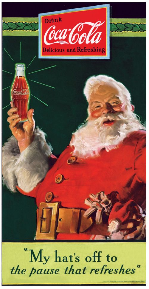 Pin On Santas Classic Coke Santas