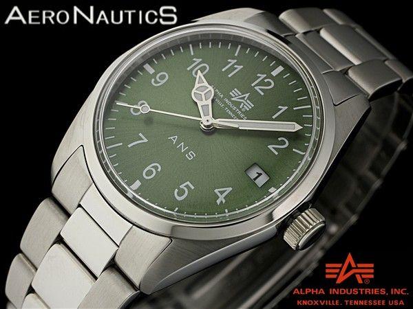 時計 新品ミリタリーアンティーク調アエロノーティックANS 6550GR Watch hamilton ¥2980円 〆03月25日