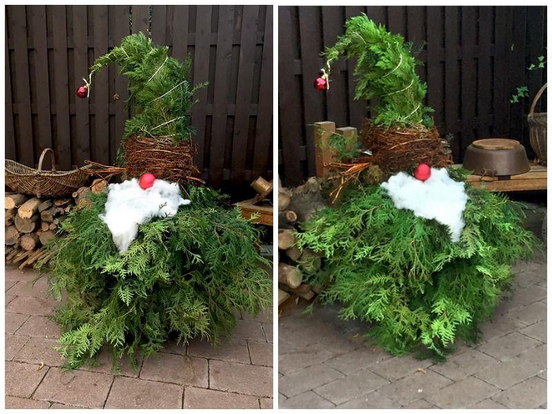 Weihnachtsdeko für draußen: Kreative Ideen zum Selberbasteln #weihnachtsdekohauseingangaussen