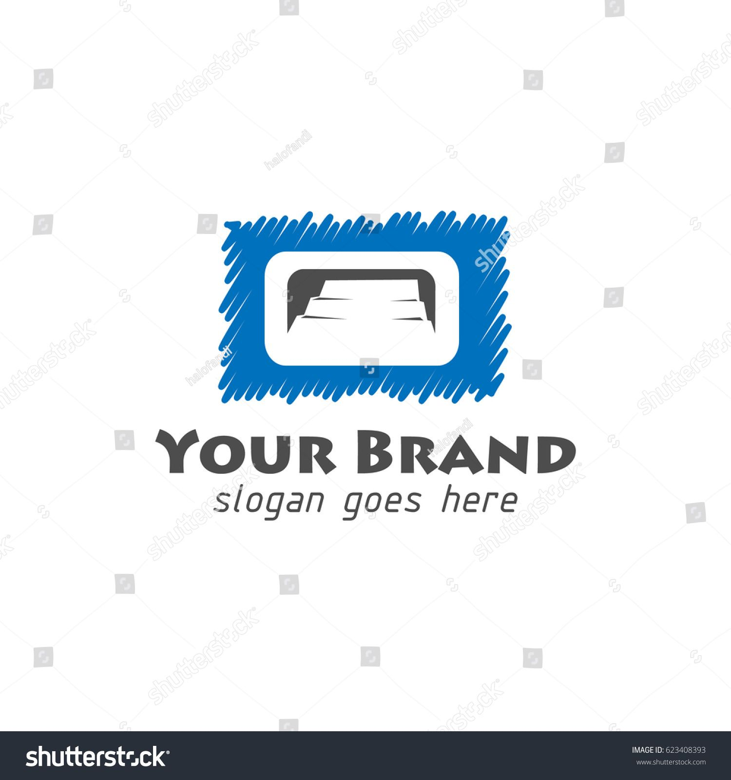 Stairs Shilouette Logo With Square Shape Financial Vector Circuit Tree Stock Photo Image 34279490
