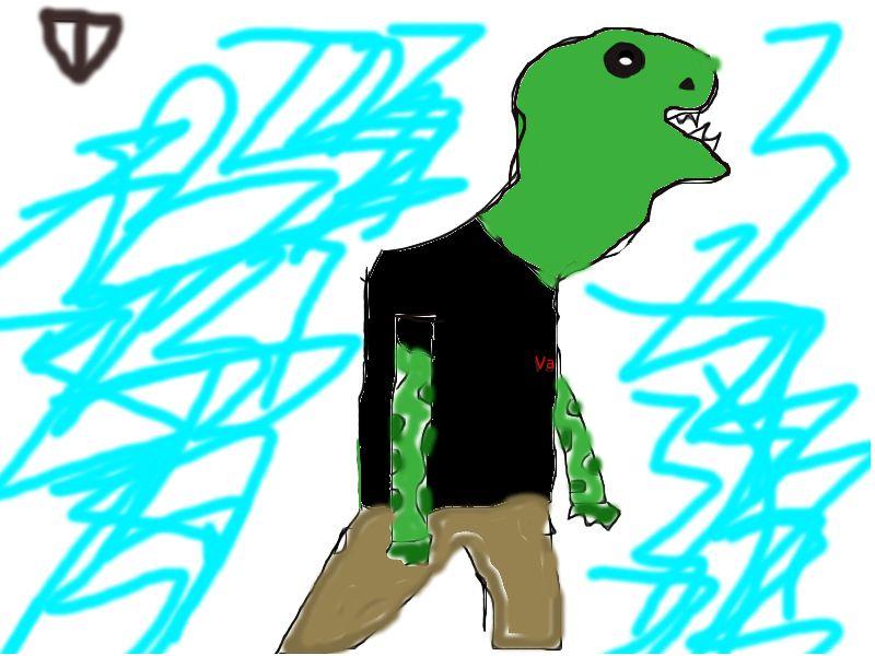 Dino-hombre con camiseta vans