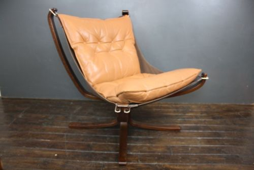 Falcon Chair Sigurd Re Res Retro 60s 70s Danish Tan Low Back 288 Ebay
