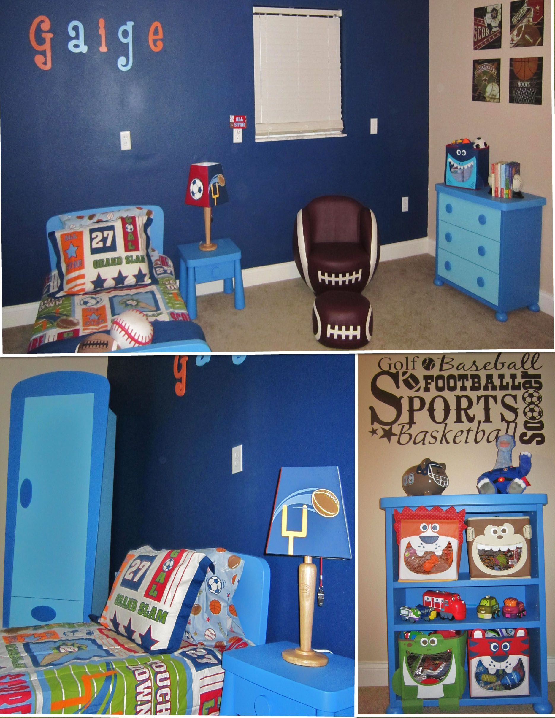 Toddler Sports Room Like The Bedding For Little Man Sports