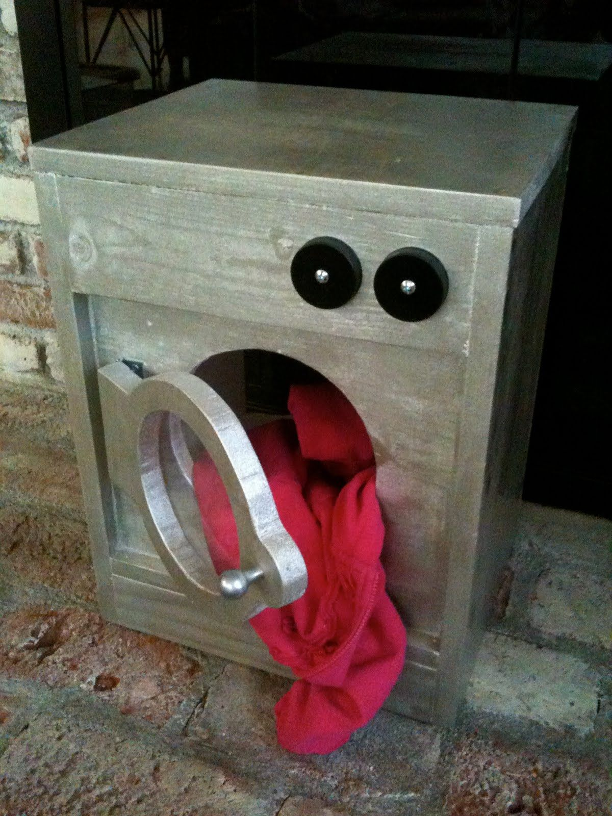 made: pieces for reese: pretend play: wooden washing machine