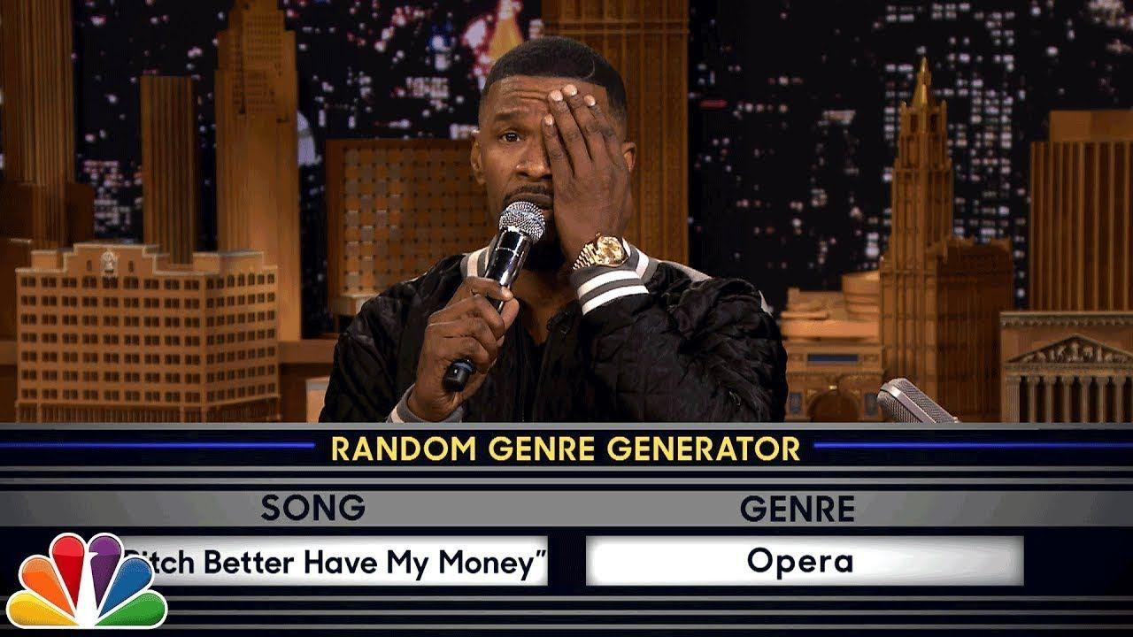 Musical Genre Challenge With Jamie Foxx Genre Challenge Musicals Music Parody
