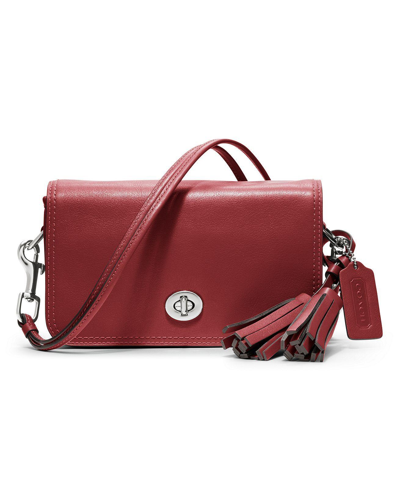 coach legacy leather penny shoulder purse macy s bags rh pinterest co uk