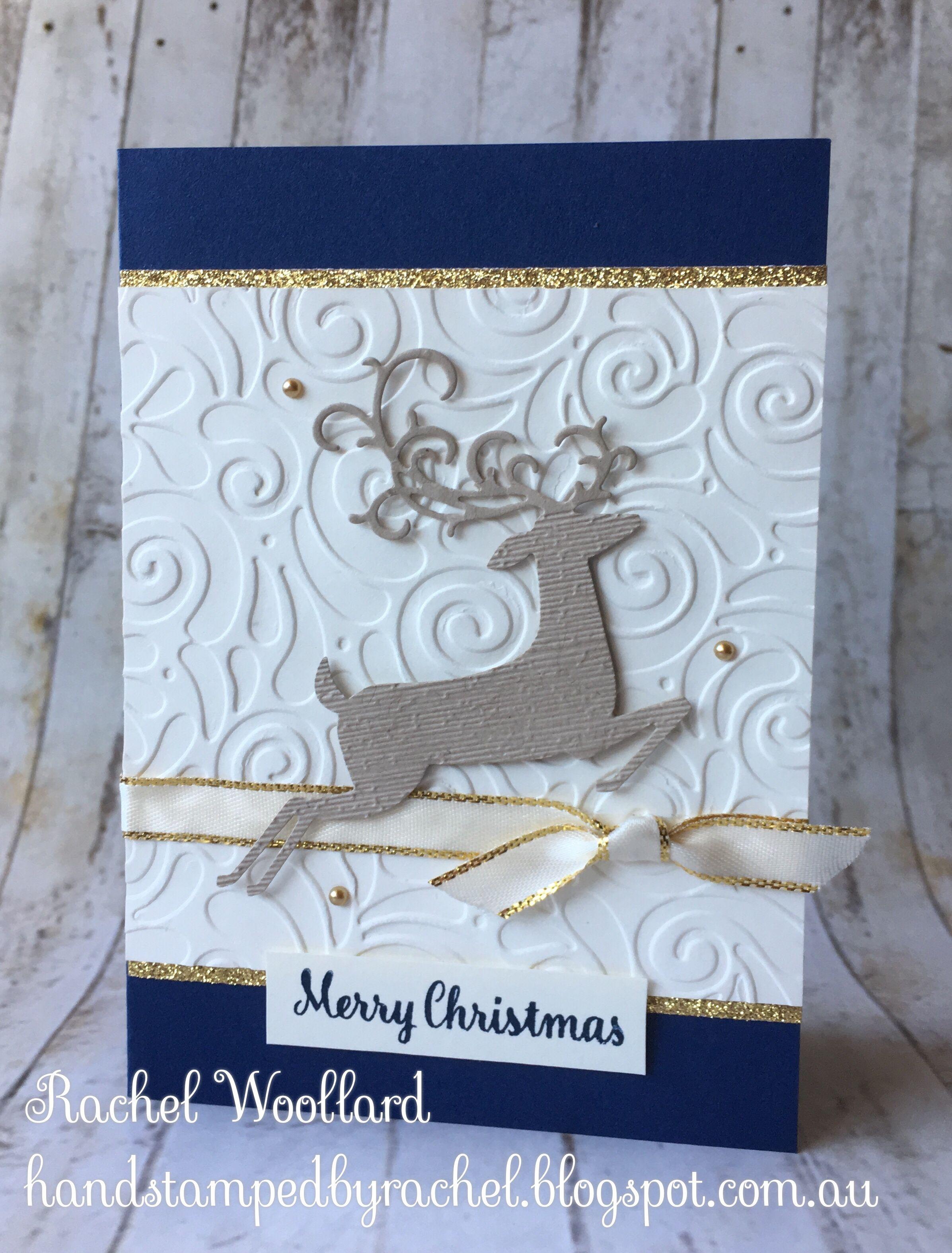 Dashing Deer, Stampin Up, Navy | Cards - Christmas | Pinterest ...