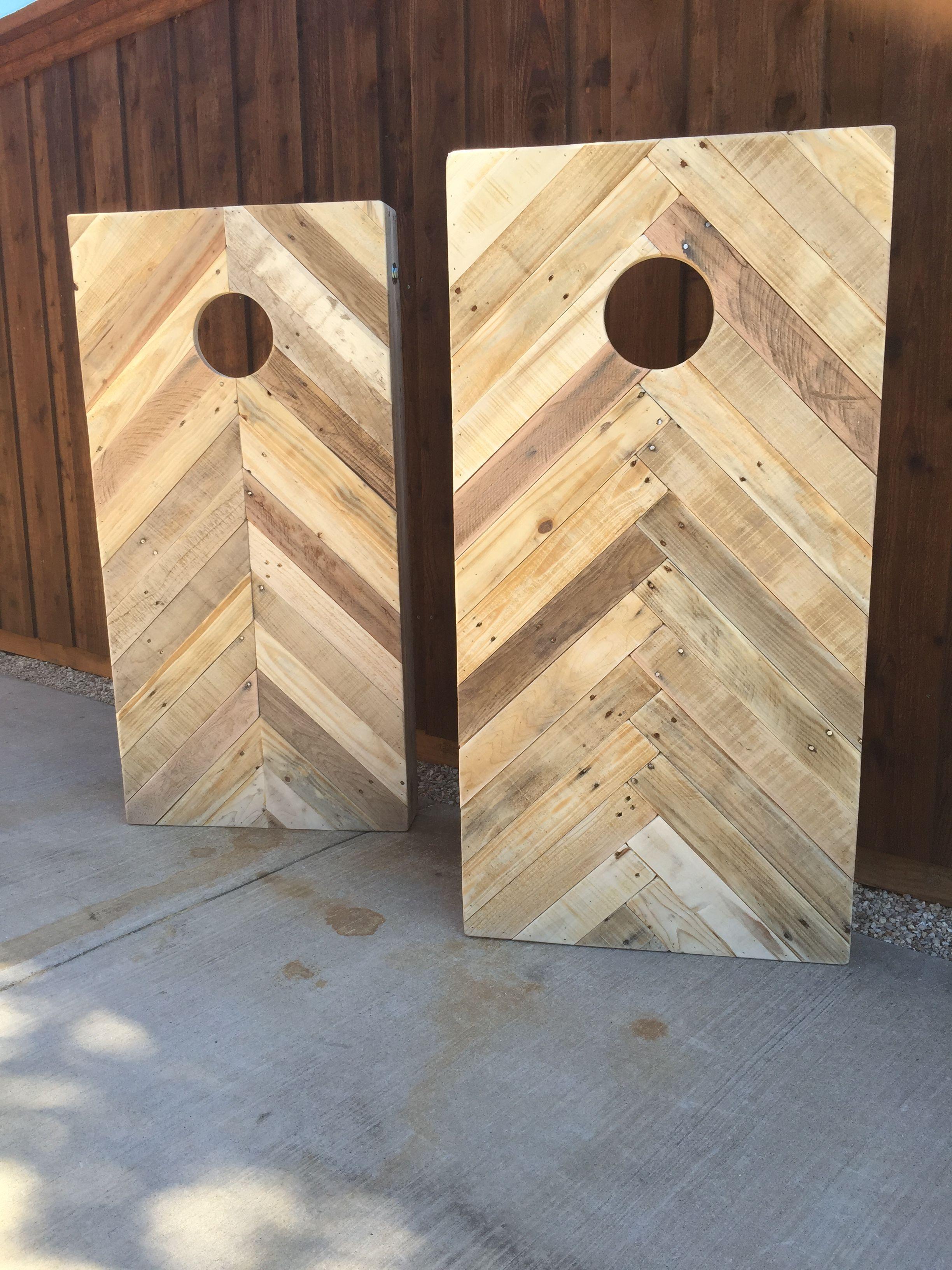 Cornhole Boards Completely Of Pallets. Chevron