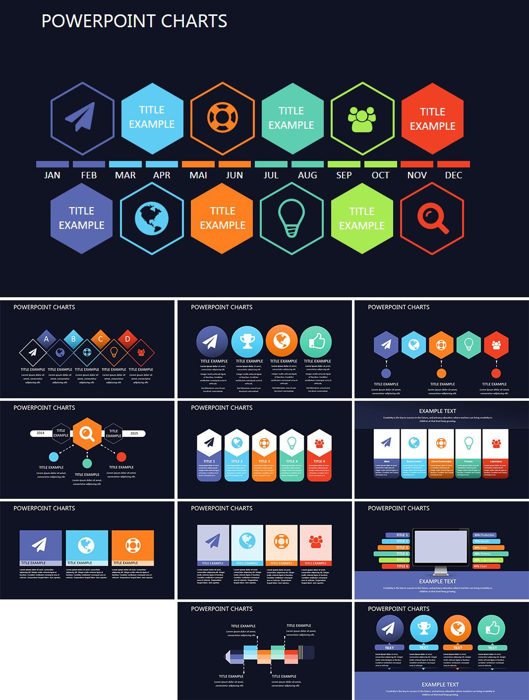 Search Engine Optimization Powerpoint Charts Powerpoint Charts