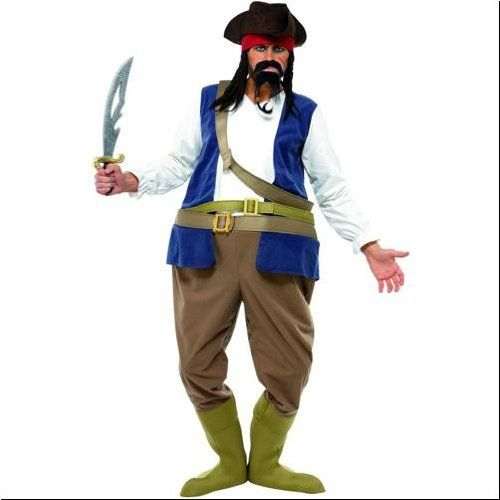 Caribbean Pirate Funny Adult Costume ...