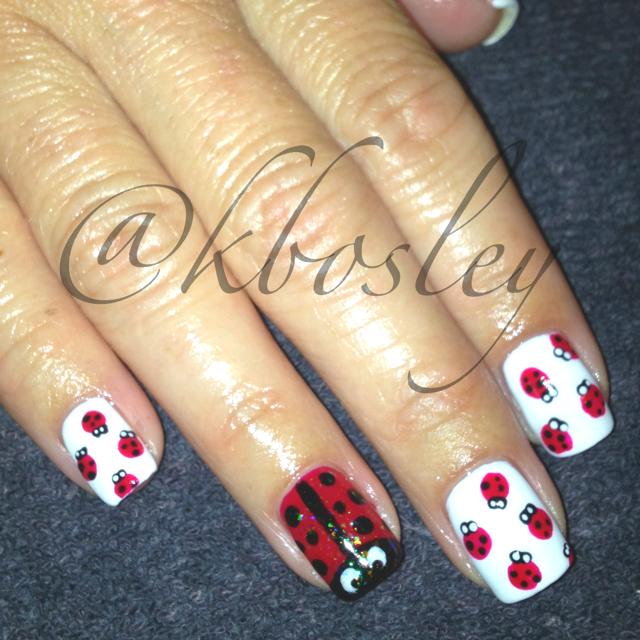 Lady Bug Nail Art Done Using Cnd Shellac Done By Kathryn Bosley