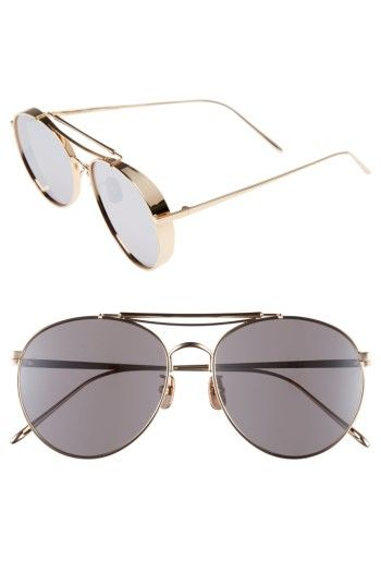 f4264b46eba Free shipping and returns on Gentle Monster Big Bully 56mm Aviator  Sunglasses at Nordstrom.com. Polished metal frames and mirrored teardrop  lenses further ...