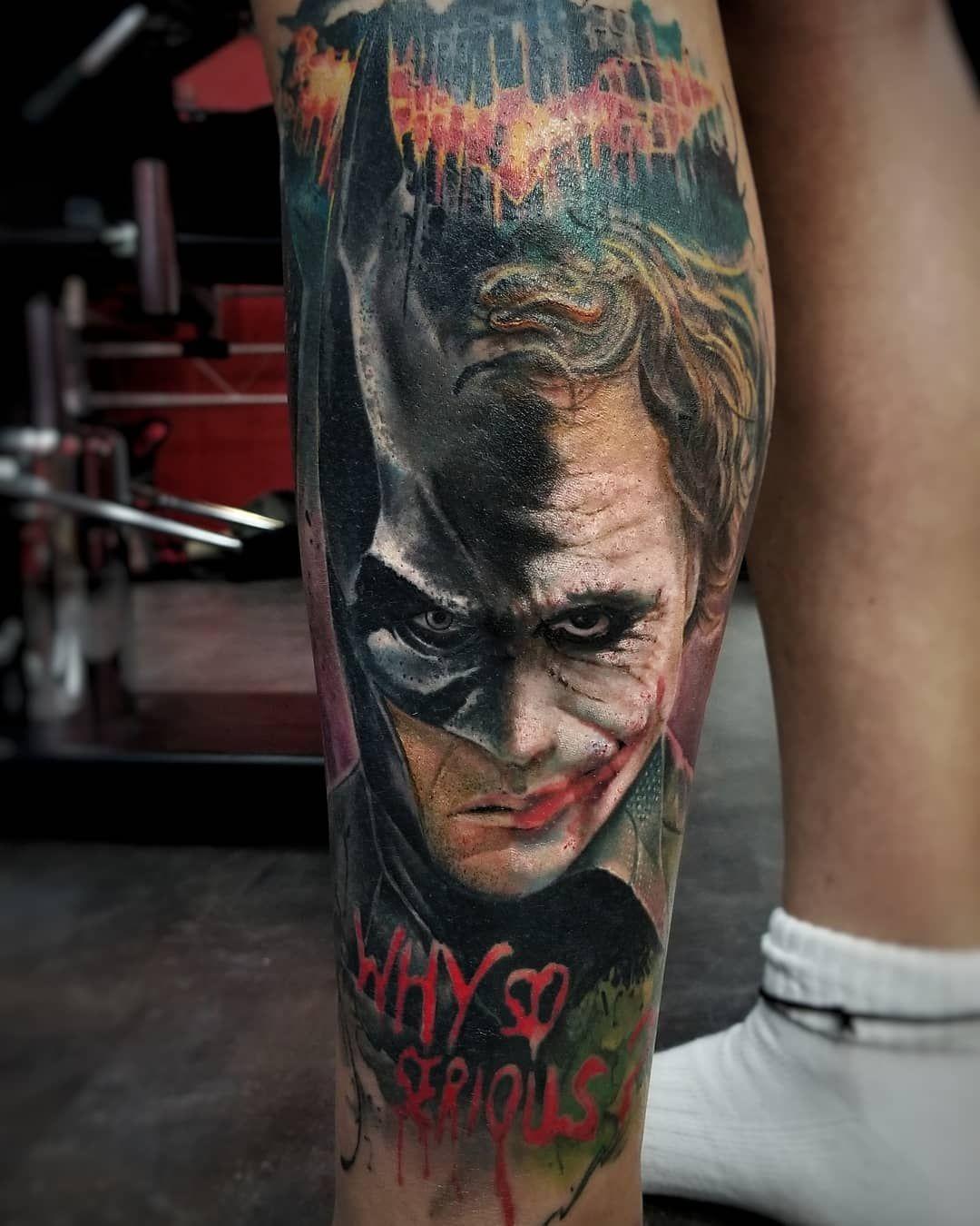 Tattoo Artist Adrian Ciercoles Batman Tattoo Batman Joker Tattoo Marvel Tattoos