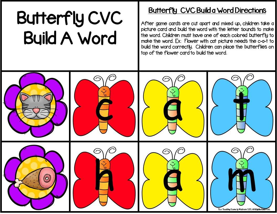 Butterfly Build A Cvc Word