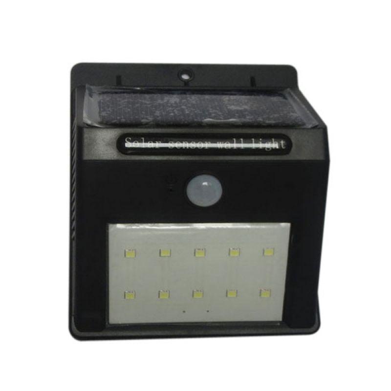 10-LED Lumière Solaire Lampe Solaire Détecteur de mouvement de PIR