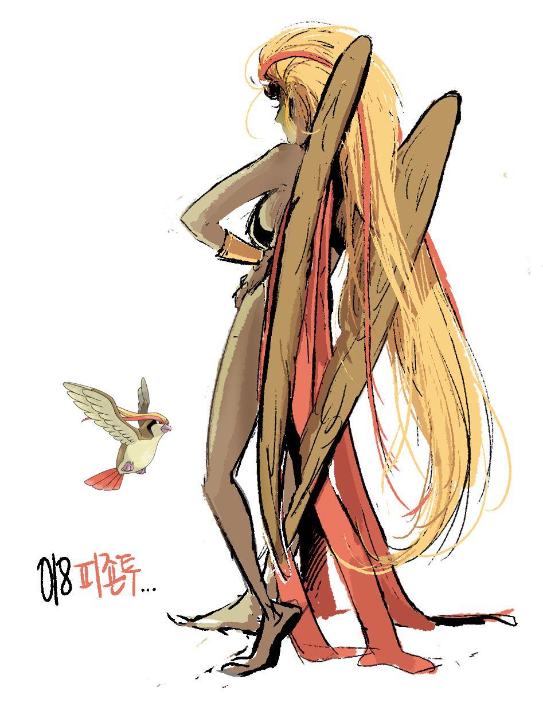 18 pidgeot humanizedgijinka pokemon series by tamtamdi