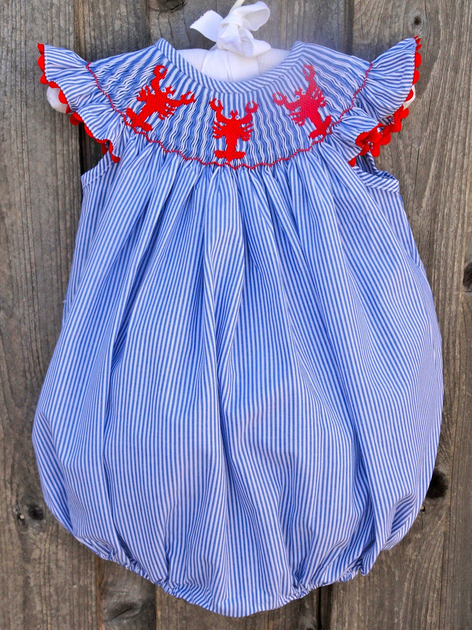 Stripe Lobster Or Crawfish Bubble From Smocked Auctions