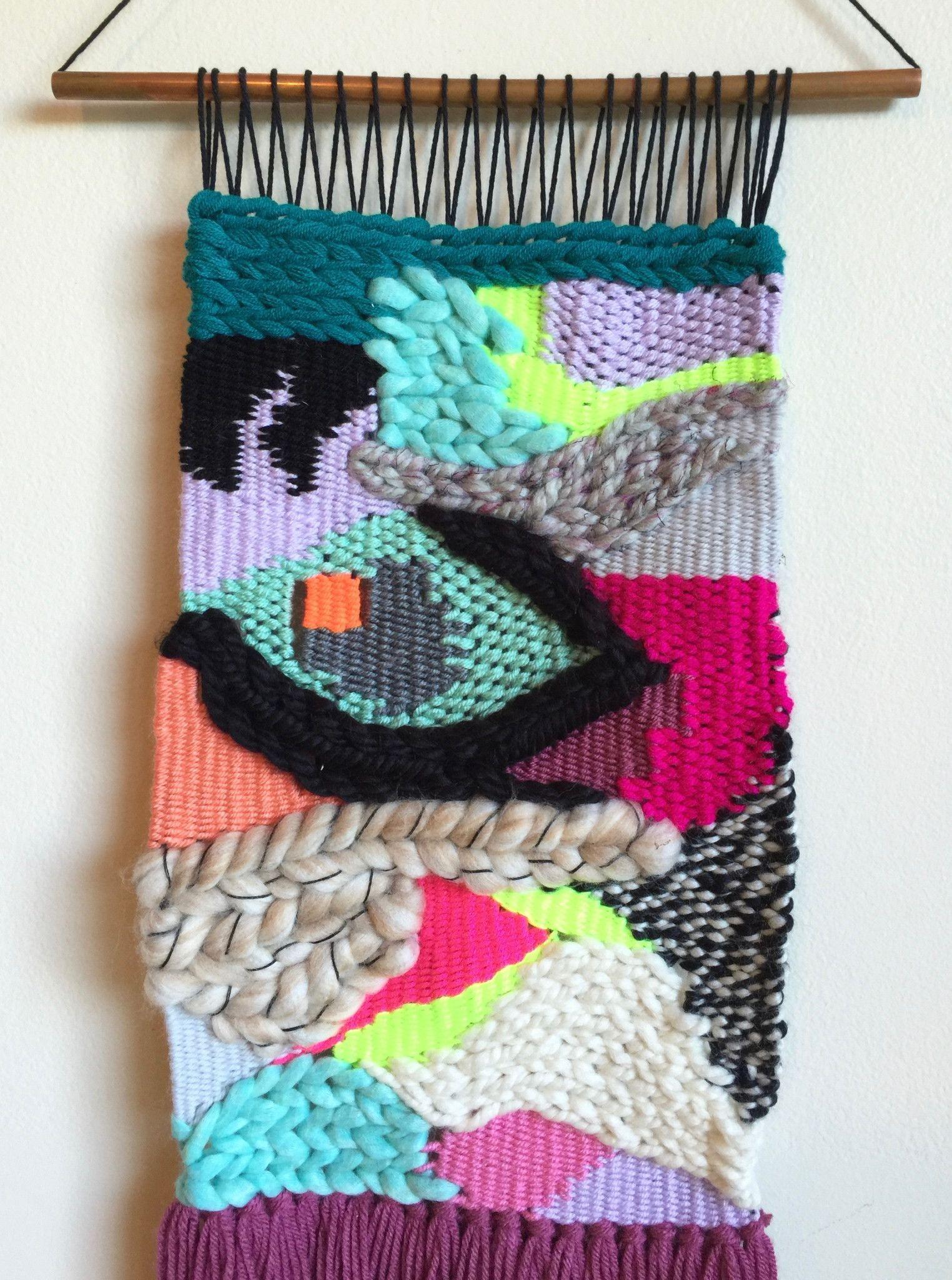 Weaving Woven Wall Hanging Fiber Art Textile Art Weaving