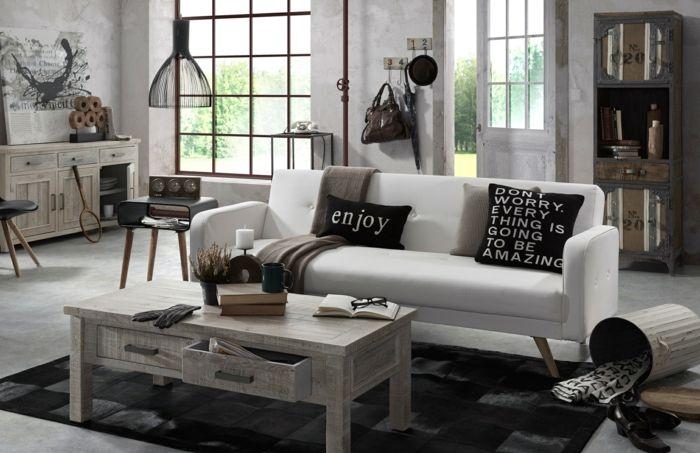 kleines wohnzimmer einrichten shabby chic stil portobello deko - sofa kleines wohnzimmer