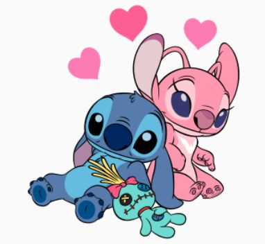 Dessin Stitch Et Angel Dessin Stitch Stich Dessin Dessins Disney