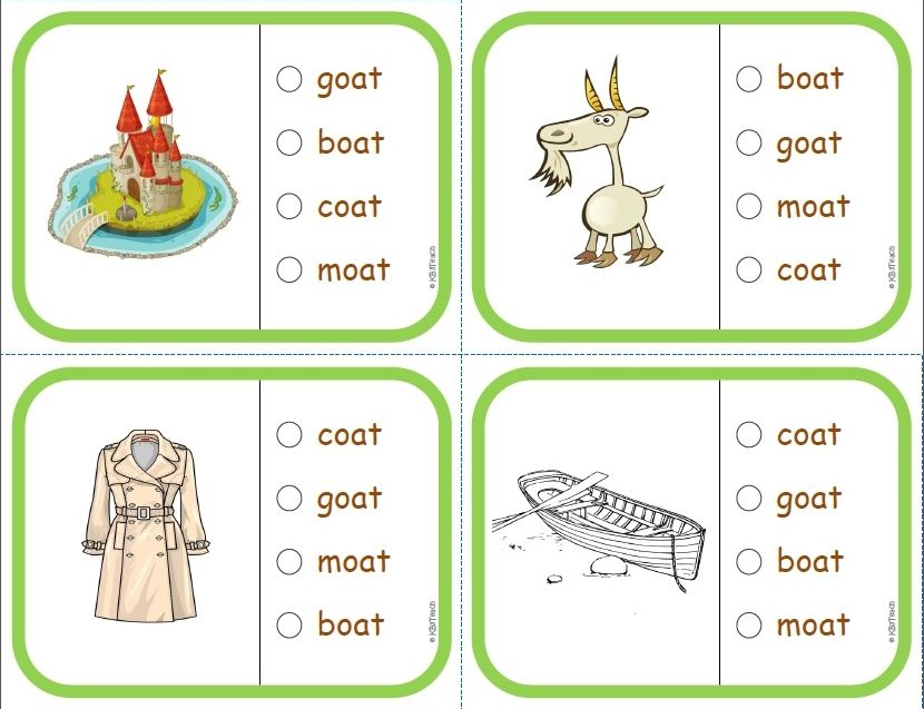 Phonics Multiple Choice Task Cards (Vowel Combinations) LEVEL 3 ...