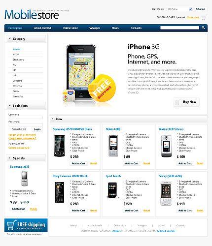 30+ Digital & Electronics VirtueMart Templates   Mobile shop ...