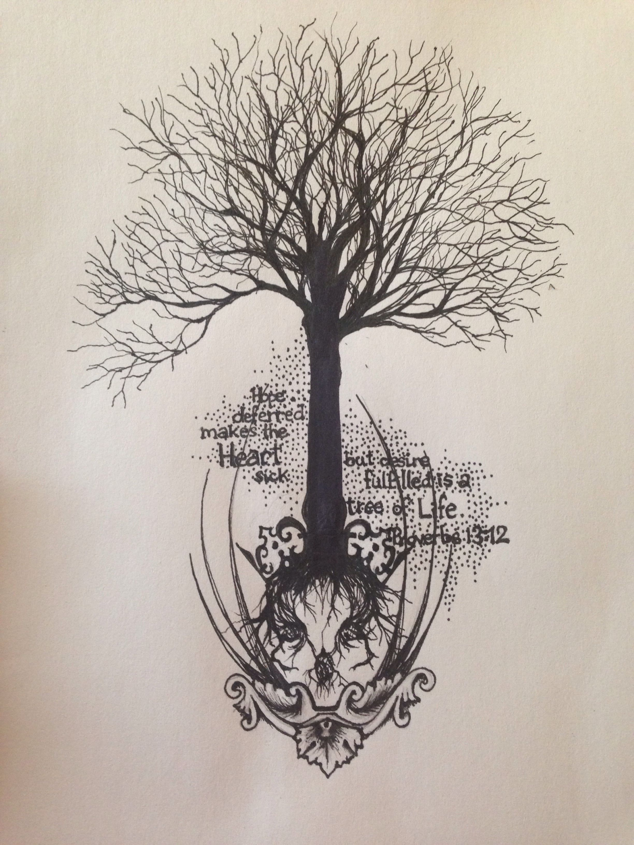 Tattoo sketch for my forearm skull tree tattoo tattoos for Forearm tattoo sketches