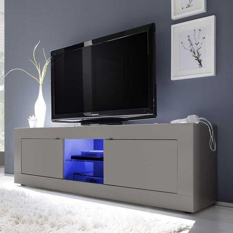 TV Board in Beige LED Beleuchtung Jetzt bestellen unter   - led design wohnzimmer