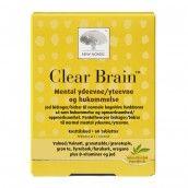 Clear Brain™ 60 tabl.   - KOGNITIVE FUNKTIONER OG MENTAL YDEEVNE - Hjernen er den største og vigtigste del af dit nervesystem. Den indeholder milliarder af neuroner/nerveceller, og er hjemsted for tanker og følelser. Den modtager og koordinerer signaler fra dine sanser, bevægelser og hukommelse. Hjernens normale funktion er afhængig af mange næringsstoffer. Clear Brain er baseret på et naturligt kombinationsekstrakt samt vitaminer og mineraler. Indholdet af jod bidrager til normale…