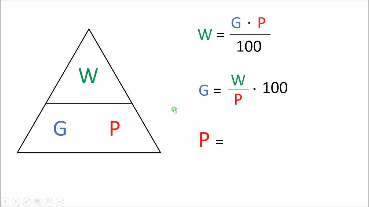 formel von prozentrechnung