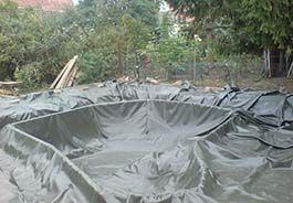 Пруд на садовом участке - Мембрана для пруда