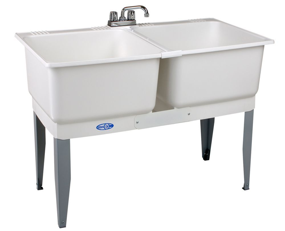 46 Inch X 34 Inch Plastic Laundry Tub Laundry Tubs Sink Utility Sink