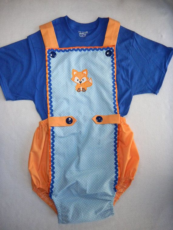 6b38c7ee6064 Adult Baby Sissy Littles ABDL ~ FOX ROMPER 2 pc Set ~ Boy Dress Up ...
