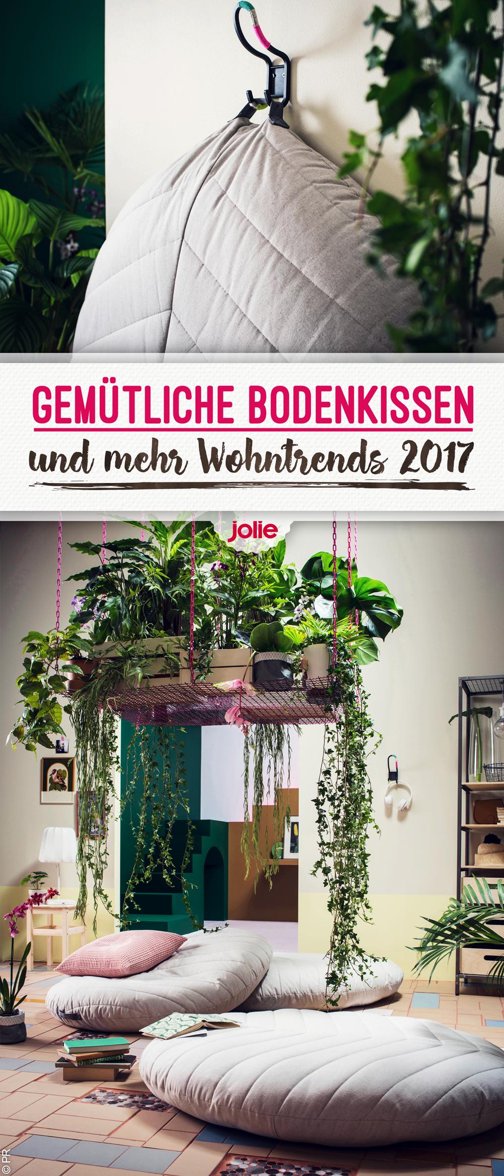 Wohntrends 2017: Deko, Möbel, Farben & Co. | Balkon | Bodenkissen ...